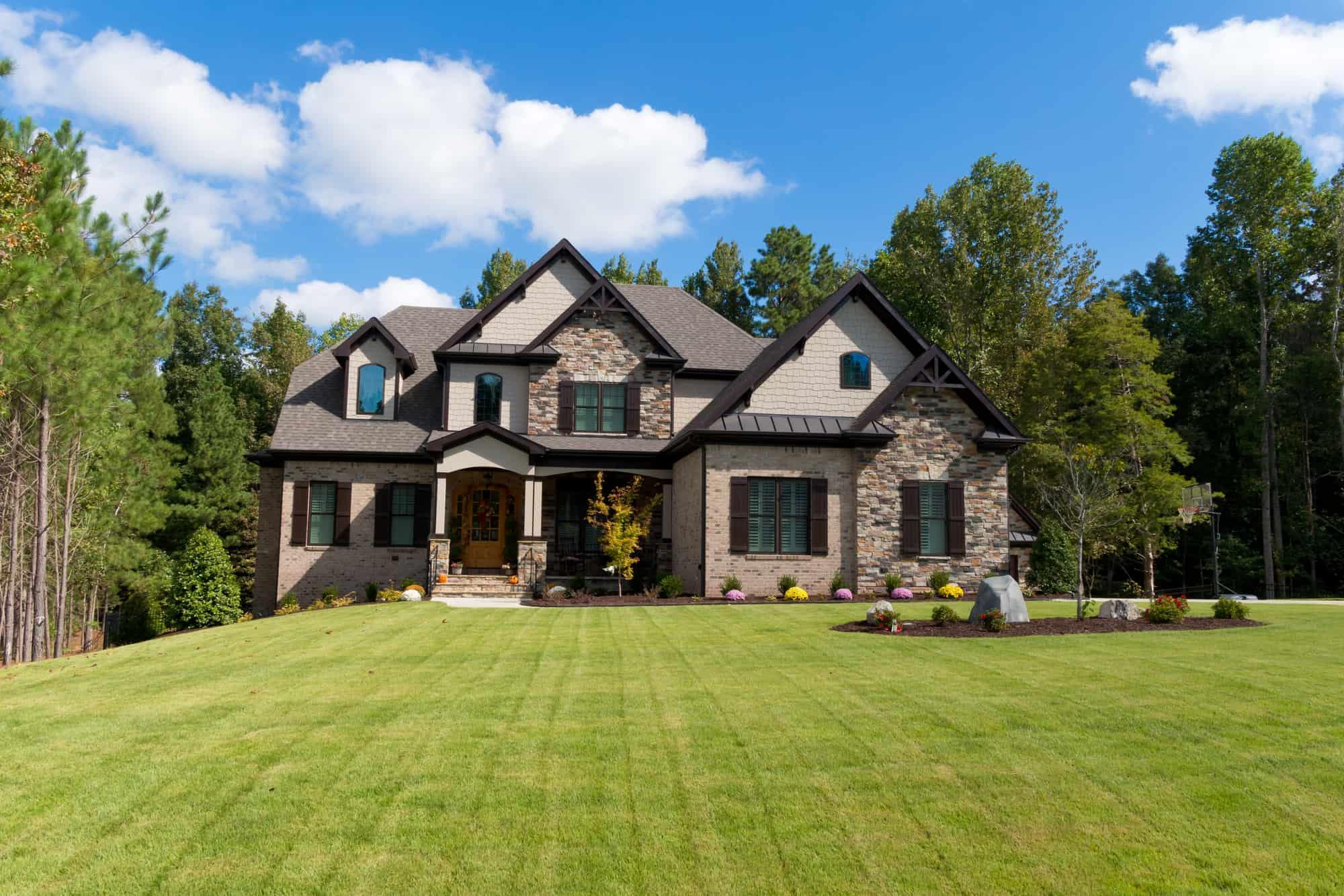 light brown brick home