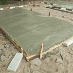 Freshly Poured Concrete Slab