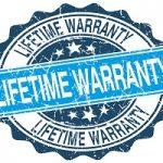 "Stamp that says ""Lifetime Warranty"""