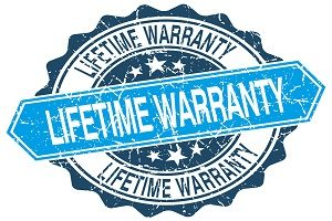 "Stamp that says ""Lifetime Warranty"""