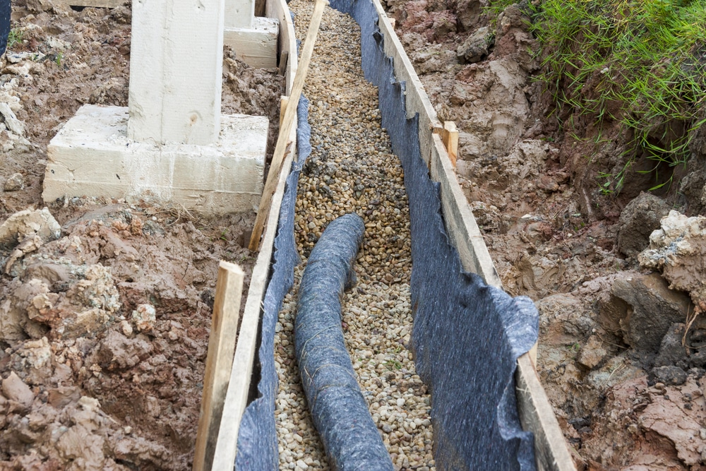 French Drain Near Foundation