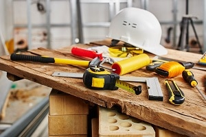 Construction Tools on a Table